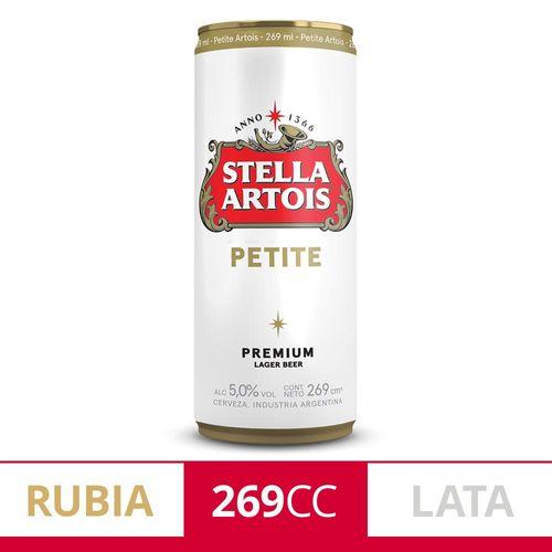 Cerveza Stella Artois 269cc Lata