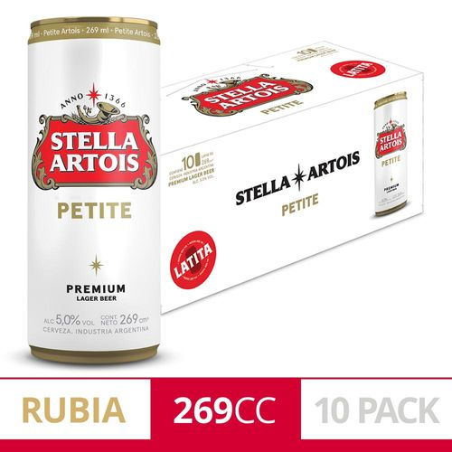 Cerveza Stella Artois 269 Pack 10un