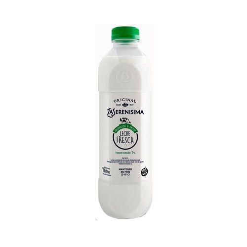 Leche Descremada La Serenisima Original Botella Transparente 1 L