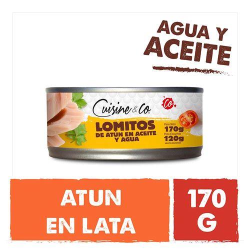 Lomo De Atun Agua Y Aceite Cuisine & Co 120gr Escurrido 170 Gr Neto