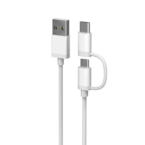 Cable  2 En 1 Type C White3 Nex Cbne03pv