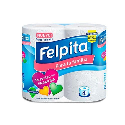 Papel Higiénico Felpita Hoja Simple Blanco