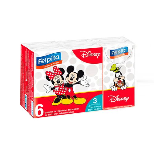 Pañuelos Desc. Felpita Disney 10 U