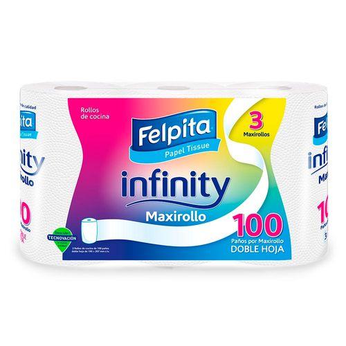 Rollo De Cocina Felpita Infinity 100 Paños