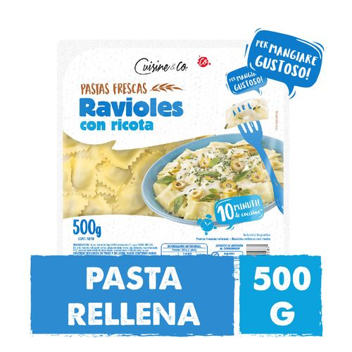 Ravioles Ricotta Cuisine&co X 500 Gr