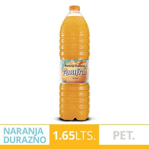 Agua Saborizada Awafrut Naranja Durazno1.65l