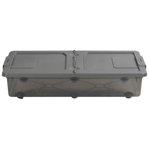 Caja Org 31lt B/cama Color Trans 2c Tt - 74,6 X 40 X 17,6 Cm - Plastico
