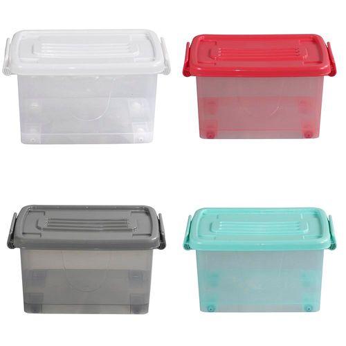 Caja Org 13lt C/rued Color Trans 4c Aa - 38,5 X 28,5 X 20,5 Cm - Plastico