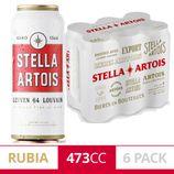 Cerveza Rubia Stella Artois Six Pack 473 Ml Lata