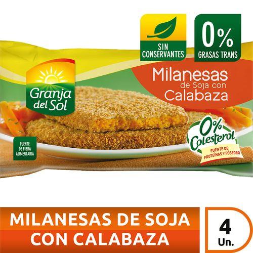 Milanesa De Soja Con Calabaza Granja Del Sol X4 U X 330 Gr