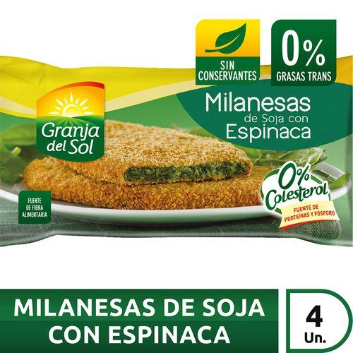 Milanesa De Soja Con Espinaca Granja Del Sol X4 U X 330 Gr
