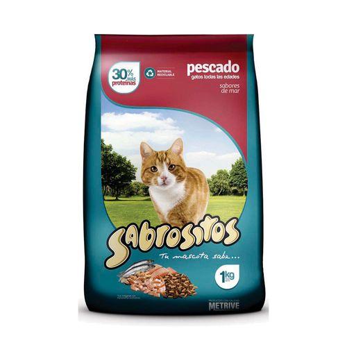 Alimento Sabrositos Para Gatos Pescado X1kg