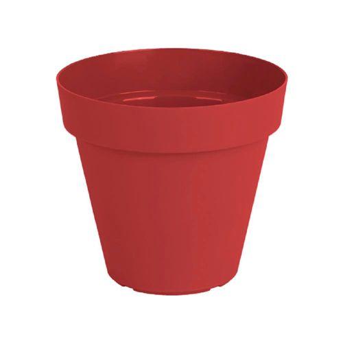 Maceta Plast Capri Outzen 20cm Rojo