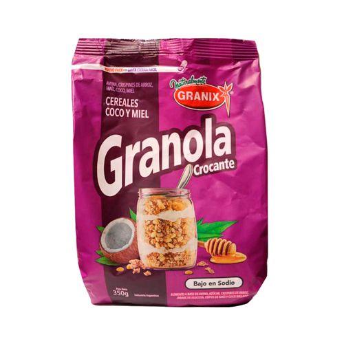 Granola Granix Cereal, Coco Y Miel 350g