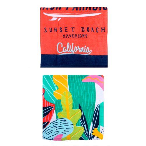 Toalla Playa Teen 75x150 3 Floran Y Wave