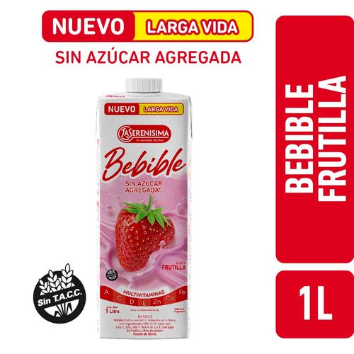 Bebible Frutilla La Serenisima Larga Vida 1l