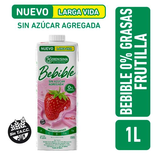 Bebible Frutilla 0% Grasas La Serenisima Larga Vida 1l