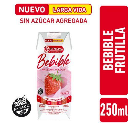 Bebible Frutilla La Serenisima Larga Vida 250cc