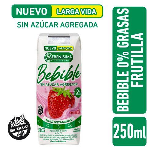 Bebible Frutilla 0% Grasas La Serenisima Larga Vida 250cc