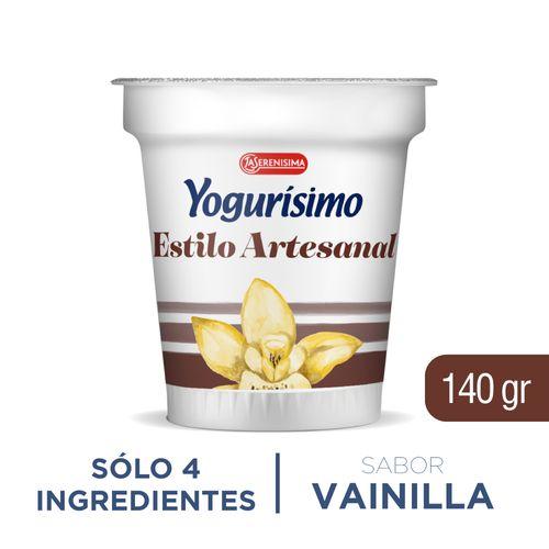 Yogur Artesanal Yogurisimo Vainilla 140 Gr