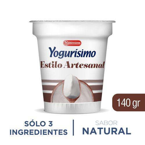 Yogur Artesanal Yogurisimo Natural 140 Gr