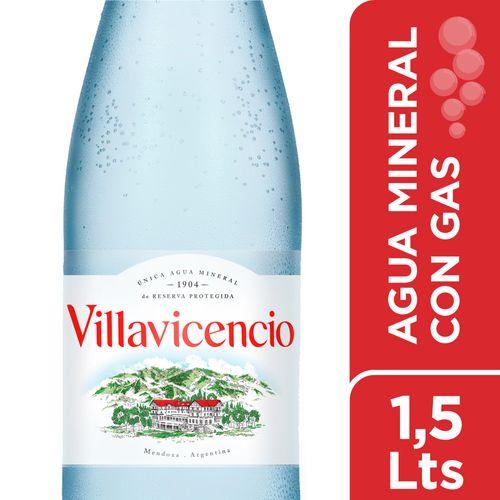 Agua Villavicencio Pet Con Gas 1.5 L