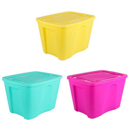 Pallet Caja Plastica 37lt Full Color - 37 X 48,5 X 32 - Plastico