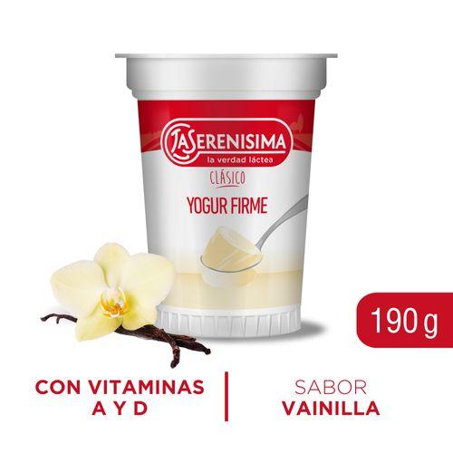 Yogur Firme La Serenisima Vainilla 190 Gr