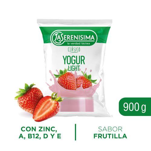 Yogur Bebible Descremado La Serenisima Frutilla 900 Gr