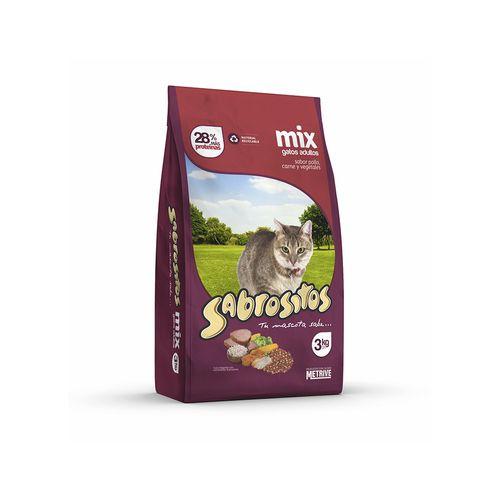 Alimento Sabrositos Gato Mix P,c,v 3k
