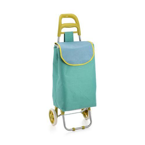 Carro De Compras Color Aqua - 95*36*27 Cm