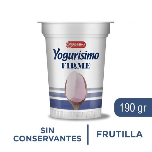 Yogurisimo Firme Preform Fortifizado 190 Gr Frutilla