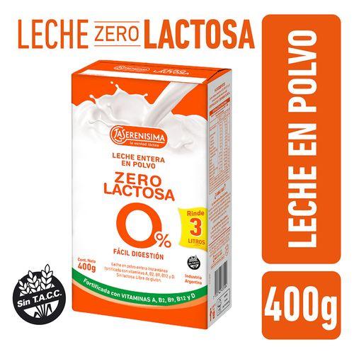 Leche En Polvo Zero Lactosa La Serenisima 400 Gr