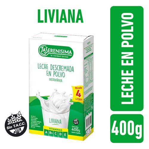 Leche En Polvo Descremada La Serenisima 400 Gr