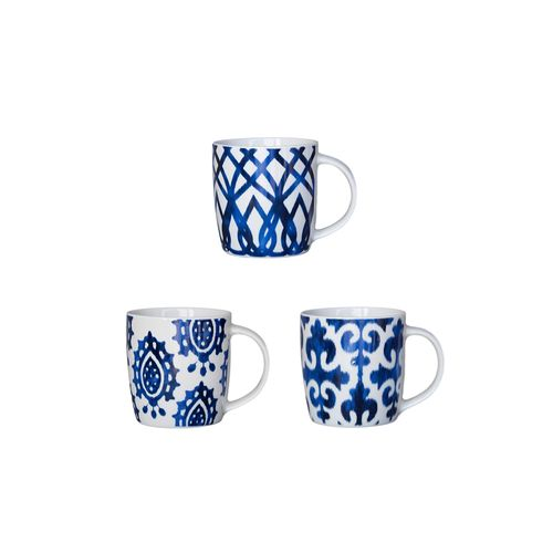 Jarro Mug Shibori Porcelana 9 Cm Varios Colores