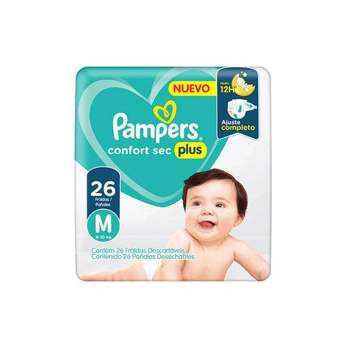 Pañales Pampers Confort Sec Plus M 26 Un