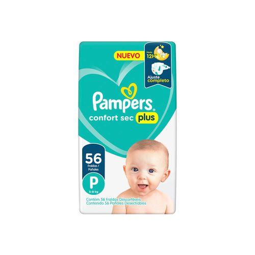 Pañales Pampers Confort Sec Plus P 56 Un