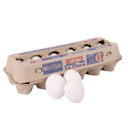 Huevos Blancos La Piara  X 12u  Carton