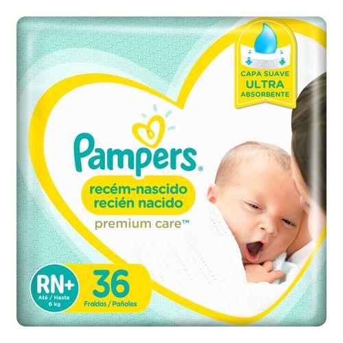 Pañales Pampers Premium Care Recien Nacido Rn 36 Un