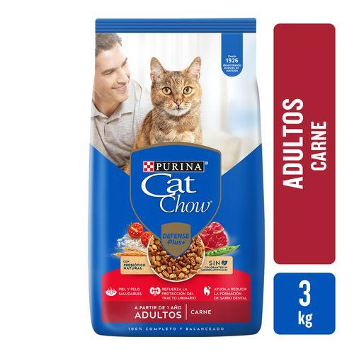 Alim Cat Chow Sin Col Adt Carne 3k