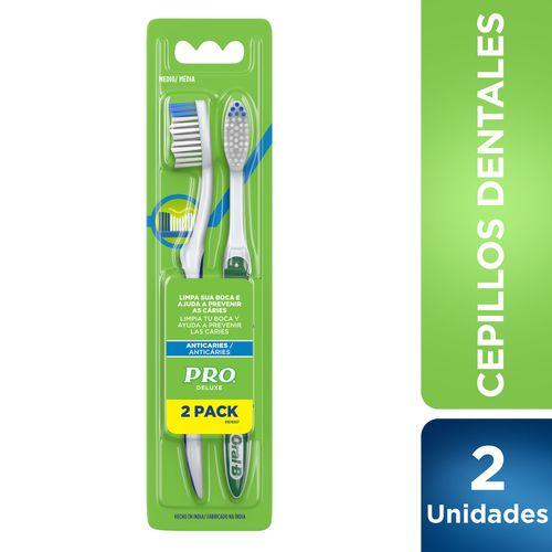 Cepillo Pro Deluxe Anticaries X 2 U