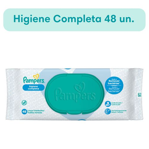 Pañales Pampers Higiene Completa Toallitas Húmedas 48 Un
