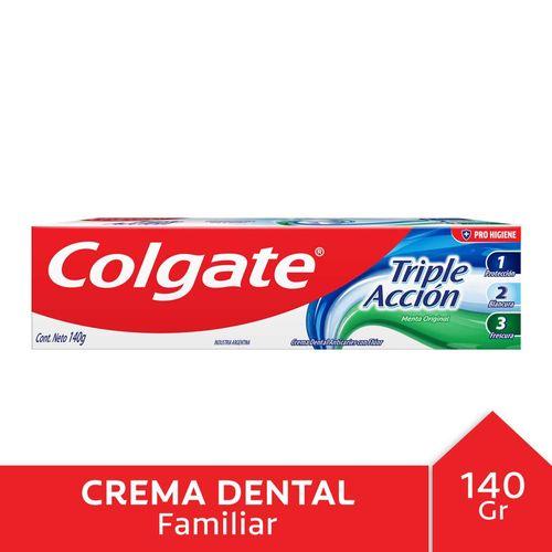 C.dental Colgate Triple Acción 140gr