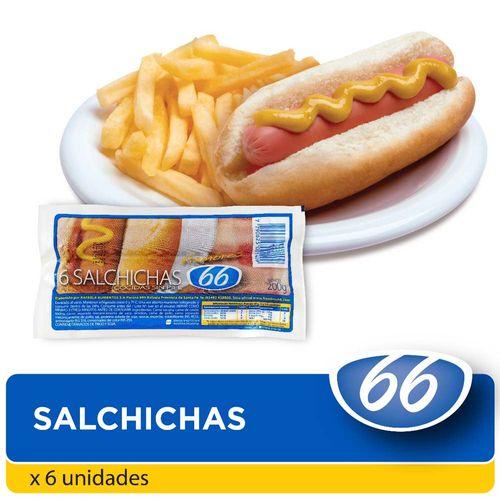 Salchichas 66 De Viena 200 Gr 6 U