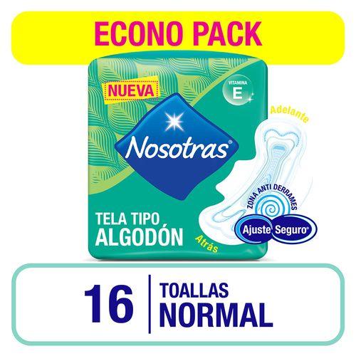 Toalla Nosotras Normal Vit E X16un