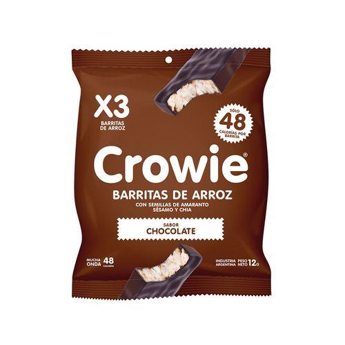 Barrita De Arroz Crowie Chocolate Negro 3 U