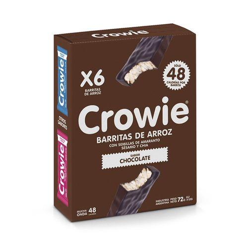 Barrita De Arroz Crowie Chocolate Negro 6 U