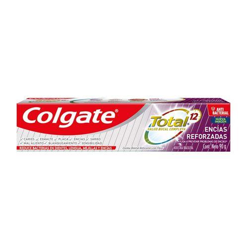 Crema Dental Colgate Total 12 Encias Reforzadas 90 G.