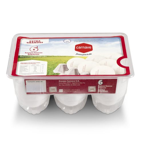 Huevos Blancos Carnave 6 U