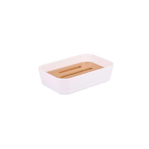 Ar Jabonera Plastico Bamboo Blanco